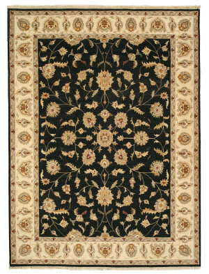 Eastern Rugs One-Of-A-Kind 9121 Black Area Rug