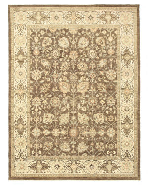 Eastern Rugs Agra 9124 Brown Area Rug