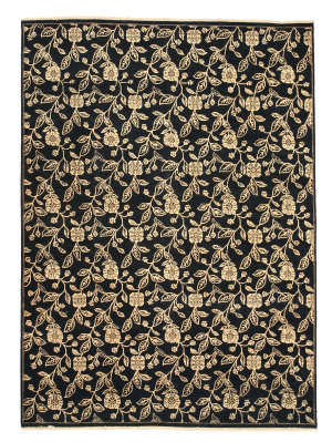 Eastern Rugs Agra 9167 Black Area Rug