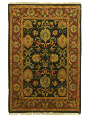 Eastern Rugs Jaipur 9250 Black Area Rug