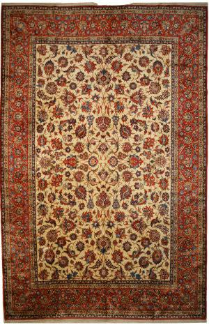 Eastern Rugs Esfahan Ak10iv Beige Area Rug