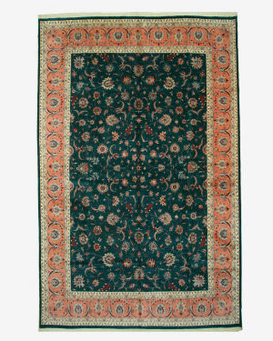 Eastern Rugs Pak-Persian Ba2951 Green Area Rug