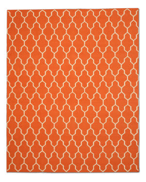 Eastern Rugs Modern Moroccan Dm12rt Orange Area Rug