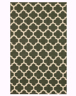 Eastern Rugs Flatweave Reversible Moroccan Dm74gn Green Area Rug