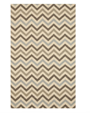 Eastern Rugs Flatweave Reversible Chevron Dm79mu Multi Area Rug