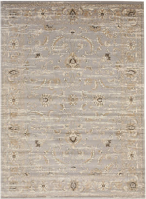 Eastern Rugs Isabella Fl35gy Gray Area Rug