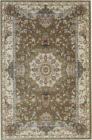 Eastern Rugs Tabriz Medallion Fl51bg Brown Area Rug