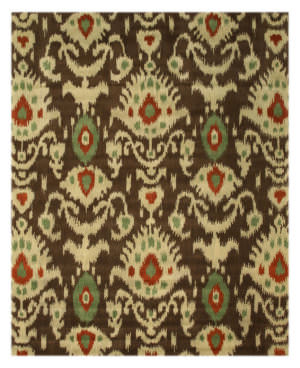 Eastern Rugs Ikat Ie26bn Brown Area Rug