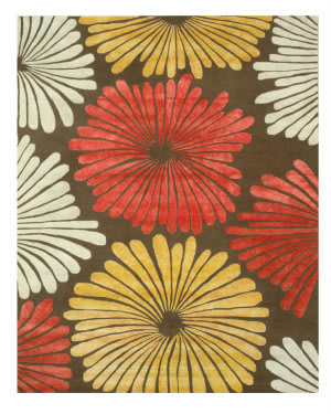 Eastern Rugs Sunflower Ie64bn Brown Area Rug