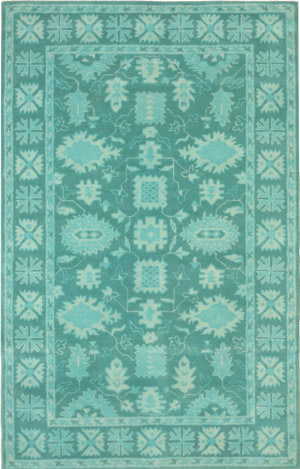 Eastern Rugs Overdyed Ie85tq Green Area Rug