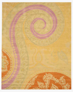 Eastern Rugs Paisley Ie8780a Yellow Area Rug