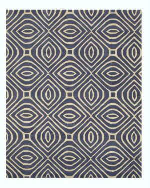 Eastern Rugs Marla Me101bl Blue Area Rug