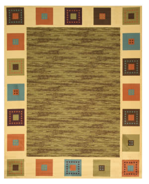 Eastern Rugs Velur Os5000gn Green Area Rug