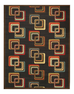 Eastern Rugs Velur Os5090bk Black Area Rug