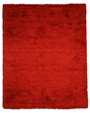 Eastern Rugs Shag Oshg1rd Red Area Rug