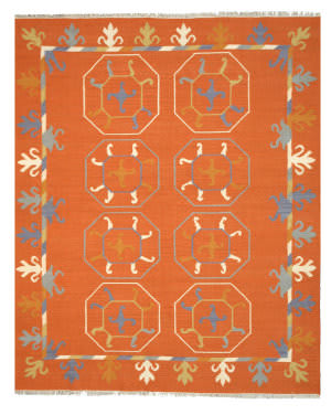 Eastern Rugs Suzani Kilim Osk1rt Rust Area Rug