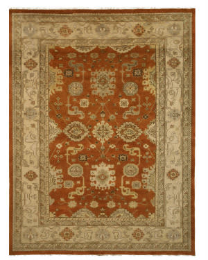 Eastern Rugs Oushak Ous3rt Rust Area Rug