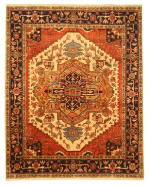 Eastern Rugs Tribal P10biv Ivory Area Rug