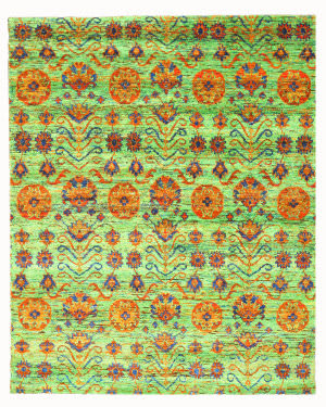 Eastern Rugs Kotan Pj101gn Green Area Rug