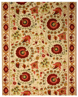 Eastern Rugs Classic Sht21iv Ivory Area Rug