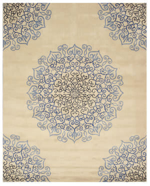 Eastern Rugs Paisley T118bl Blue Area Rug