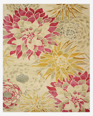 Eastern Rugs Sunflower T124iv Ivory Area Rug
