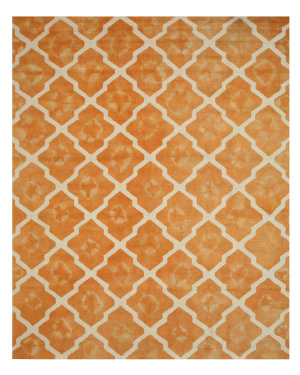 Eastern Rugs Tie-Dye Moroccan T128or Orange Area Rug