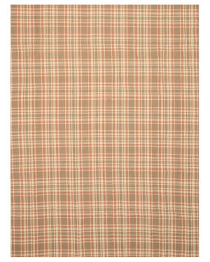 Eastern Rugs Wool Plaid T130bn Brown Area Rug