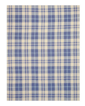 Eastern Rugs Wool Plaid T131bl Blue Area Rug
