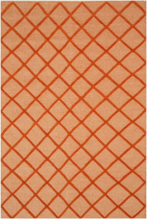 Eastern Rugs Xavier T166or Orange Area Rug