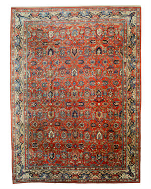 Eastern Rugs Fine Antique Tehran X25071 Rust Area Rug