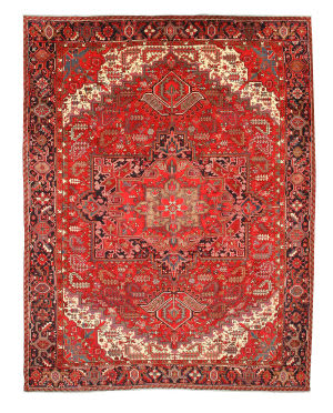 Eastern Rugs Heriz X28982 Red Area Rug