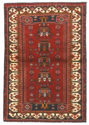 Eastern Rugs Hamadan X29120 Red Area Rug