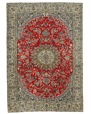 Eastern Rugs Naiin X34762 Red Area Rug