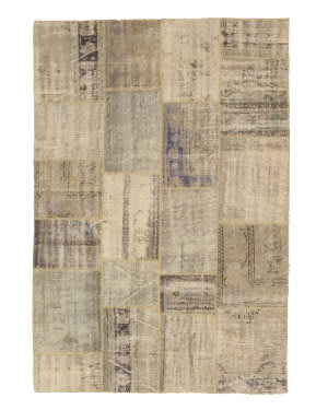 Eastern Rugs Turkish Patchwork X35348 Beige Area Rug