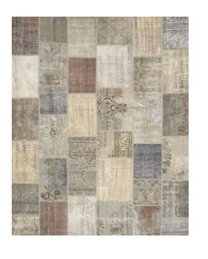 Eastern Rugs Turkish Patchwork X35366 Grey Area Rug