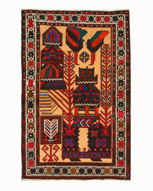 Eastern Rugs Baluchi X35509 Multi Area Rug