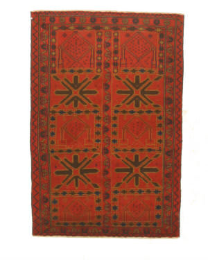 Eastern Rugs Baluchi X35527 Red Area Rug