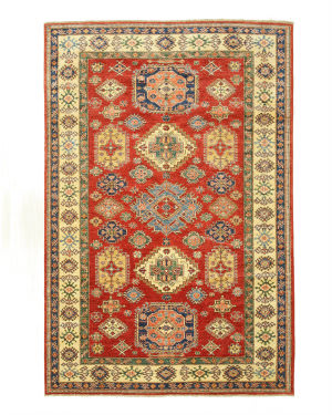 Eastern Rugs Super Kazak X35688 Red Area Rug
