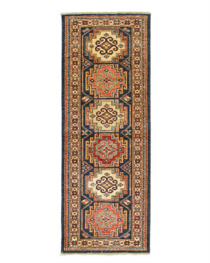 Eastern Rugs Super Kazak X35783 Navy Area Rug