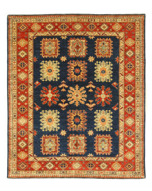 Eastern Rugs Super Kazak X35848 Navy Area Rug