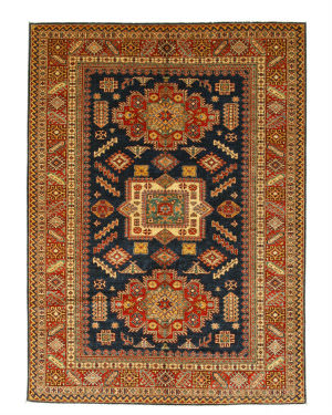 Eastern Rugs Super Kazak X35875 Navy Area Rug