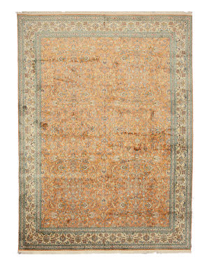 Eastern Rugs Silk X35898 Peach Area Rug