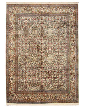 Eastern Rugs Silk X35903 Ivory Area Rug