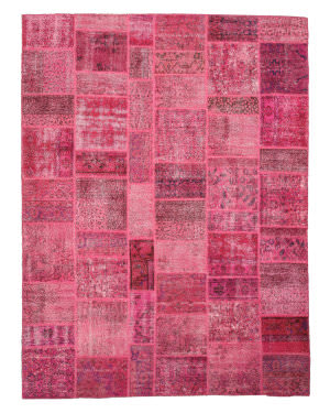 Eastern Rugs Turkish Patchwork X35914 Pink Area Rug