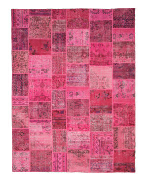 Eastern Rugs Turkish Patchwork X35916 Pink Area Rug
