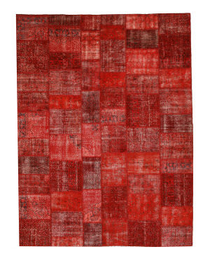 Eastern Rugs Turkish Patchwork X35918 Orange Area Rug