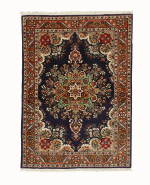 Eastern Rugs Tabriz X35952 Navy Area Rug