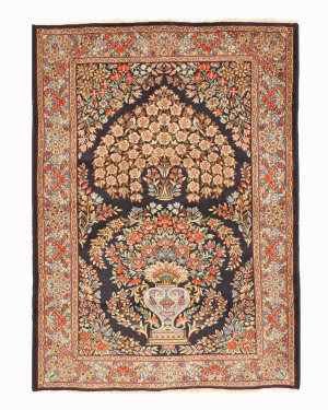 Eastern Rugs Kerman X35956 Navy Area Rug