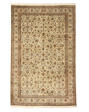 Eastern Rugs Silk X35961 Ivory Area Rug